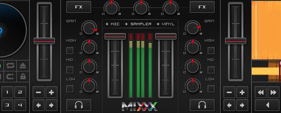 Clippung Over Dj Mixer