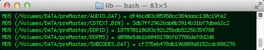 Hashwerte für alle Dateien aus dem DDP-Image